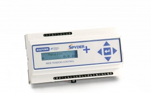 Compact, cost-effective tension control for unwind, rewind, point-to-point or dancer applications